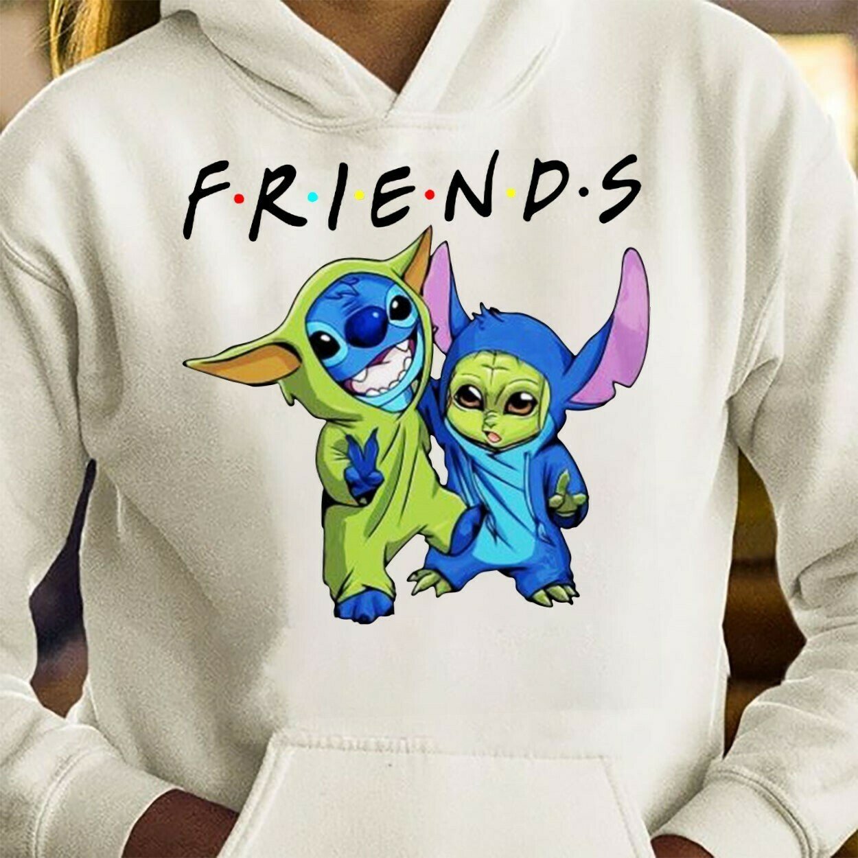Baby Stitch and Baby Yoda Friends,Star Wars The Good The Droid The Baby Ok Boomer Baby Yoda and stich Snack time Catching t shirt Long Sleeve Sweatshirt Hoodie Jolly Family Gifts