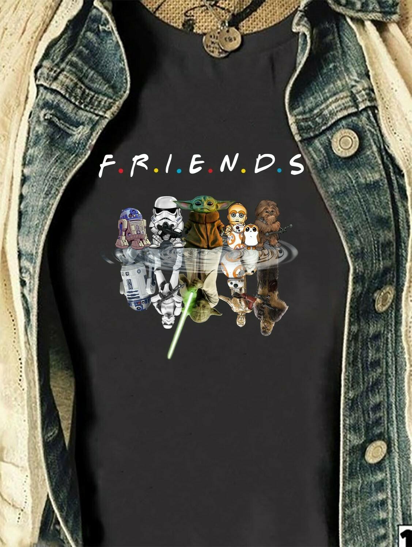 Friends Star Wars Chibi Upside Down Movie Film Family Star Wars Shirts,Jedi Squad Shirts,Family Disney T-shirt,Matching Family Disney Long Sleeve Sweatshirt Hoodie Jolly Family Gifts