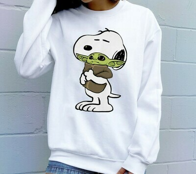 Snoopy mashup baby yoda shirt,star wars 2019 designs,star wars gifts,Funny Star Wars The Mandalorian The Child First Memories Floating Pod Long Sleeve Sweatshirt Hoodie Jolly Family Gifts