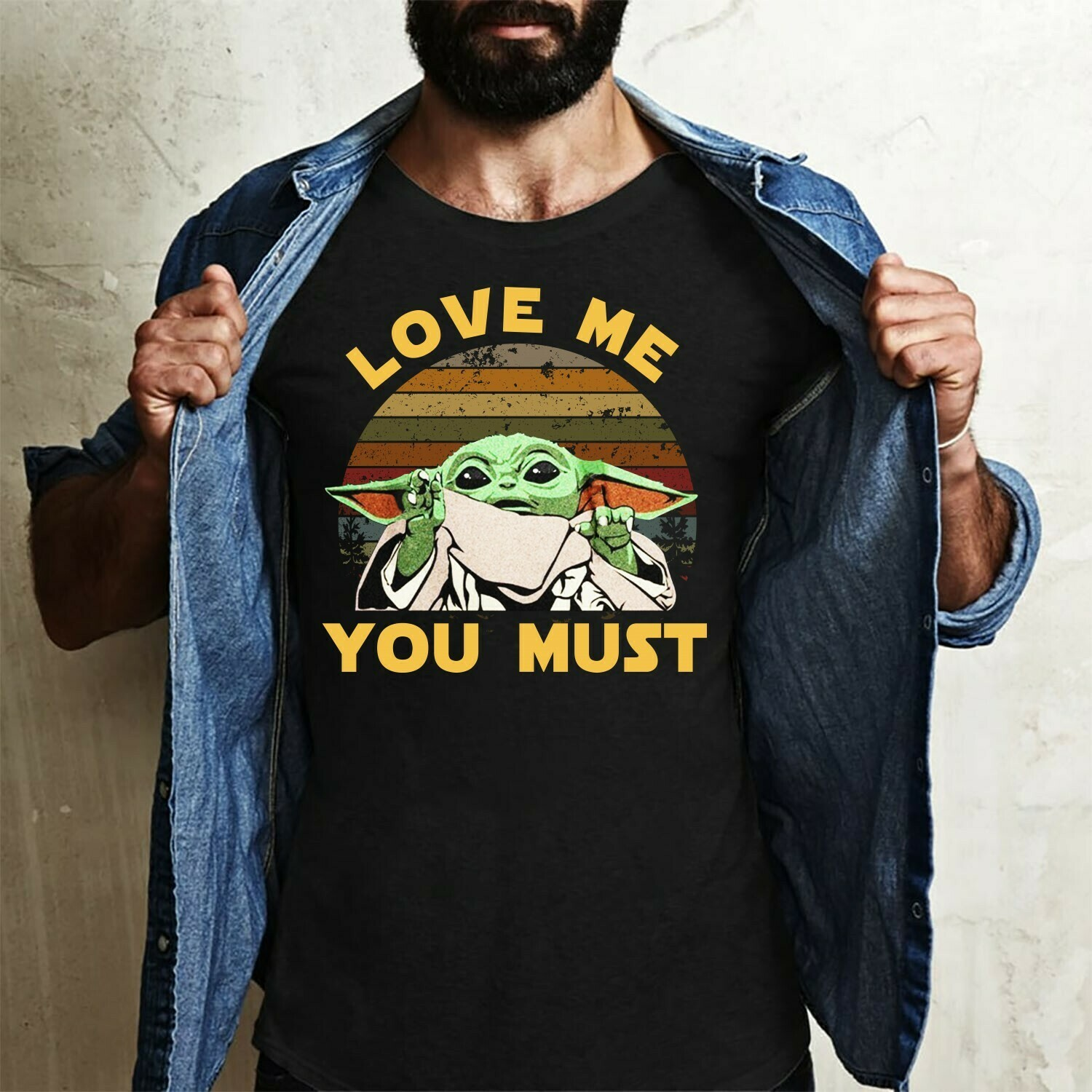 Baby yoda Love me you must,Disney Peter Pan Captain Hook,Baby Yoda Is My Patronus Star Wars Parody T shirt Long Sleeve Sweatshirt Hoodie Jolly Family Gifts