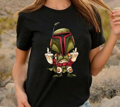 Star Wars Boba Fett Helmet Middle Finger Funny Meme Men's Sugar Skull Deadpool Bounty Hunter The Lion King Kenner Movie T-shirt Long Sleeve Sweatshirt Hoodie Jolly Family Gifts