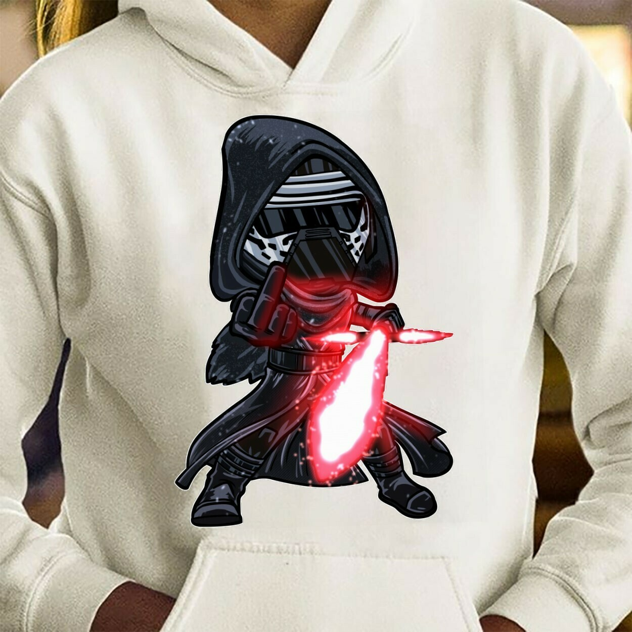 Star Wars The Force Awakens Men's Kylo Ren Darth Maul Darth Vader Kylo Ren Middle Finger The Last Jedi The Rise of Skywalker Licensed Shirt Long Sleeve Sweatshirt Hoodie Jolly Family Gifts