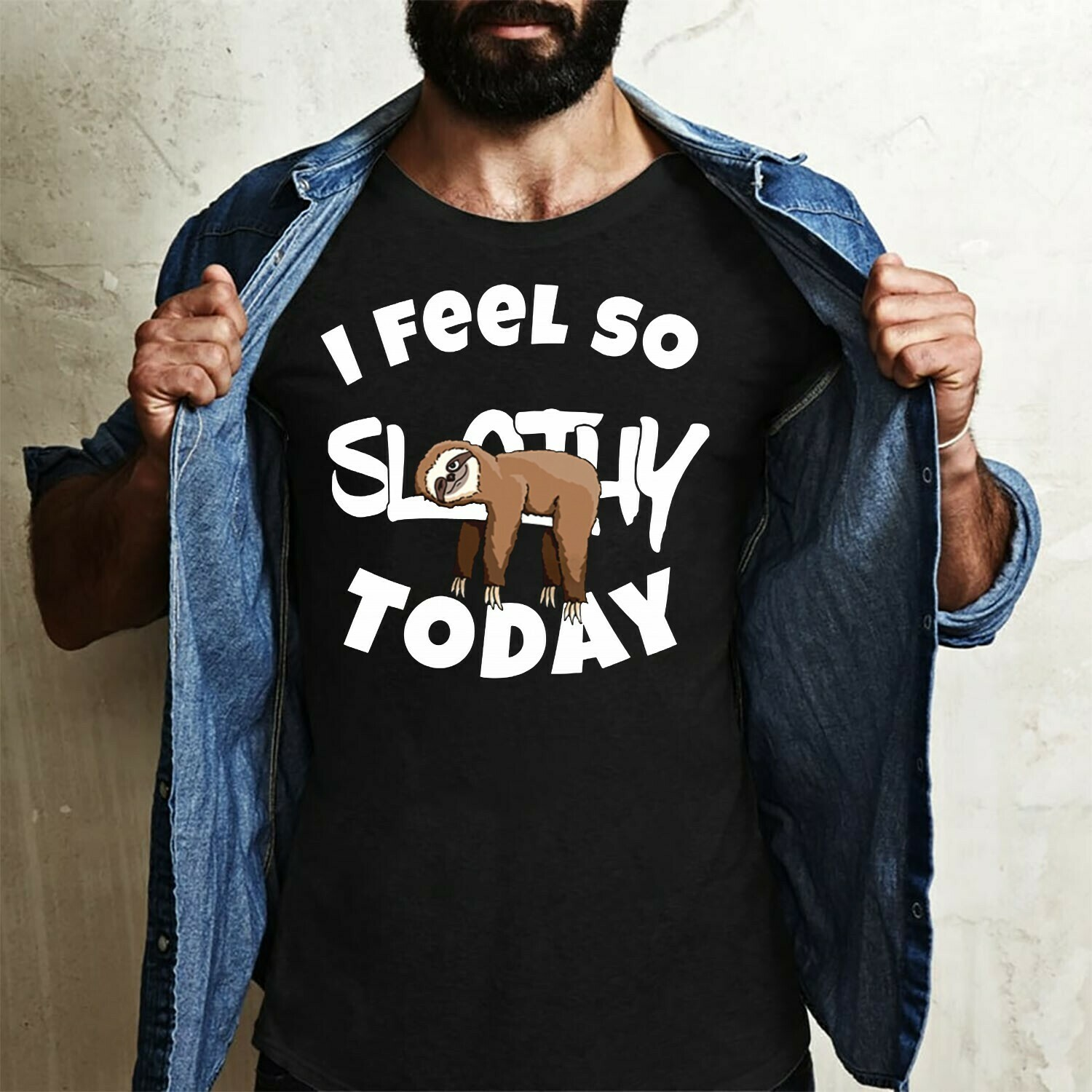 I Feel so Slothy Today Funny Cartoon Sloth Baby Spirit Animal Chill and Relax Animal lover gift T-Shirt Long Sleeve Sweatshirt Hoodie Jolly Family Gifts