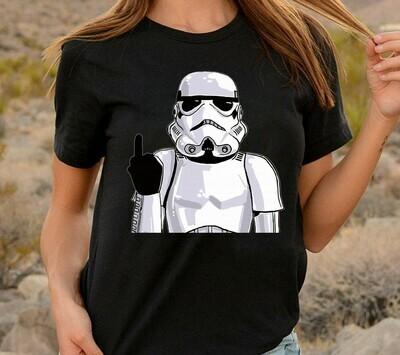Star Wars Imperial Stormtrooper helmet Middle Finger Funny Meme Men's Sugar Skull Darth on Holiday Vader Storm Trooper Stormtrooper T-shirt Long Sleeve Sweatshirt Hoodie Jolly Family Gifts