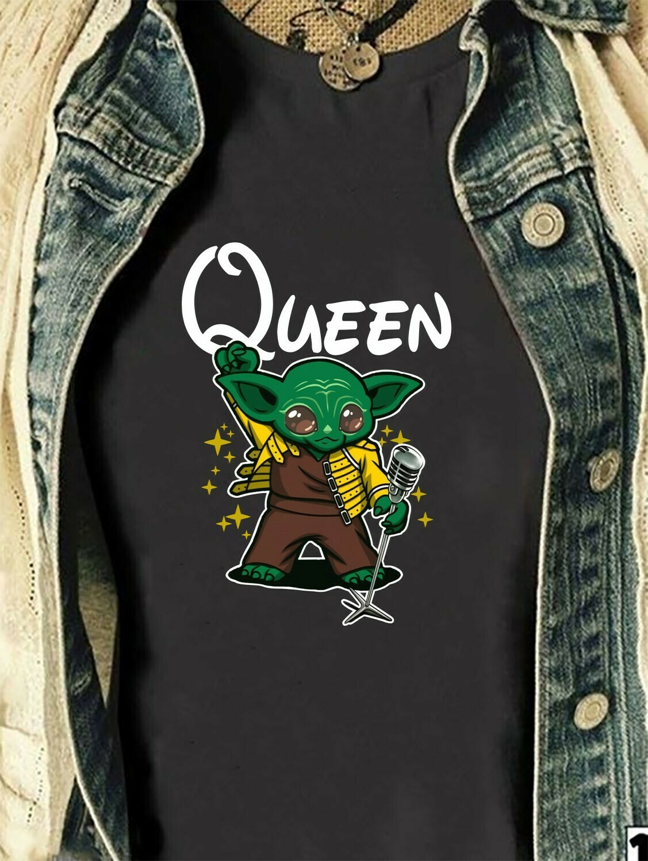Queen Yoda Freddie Mercury Baby Yoda Is My Patronus Star Wars Parody Mandalorian Ugly Xmas Boba Fett Air Jordan parody Shirt Long Sleeve Sweatshirt Hoodie Jolly Family Gifts