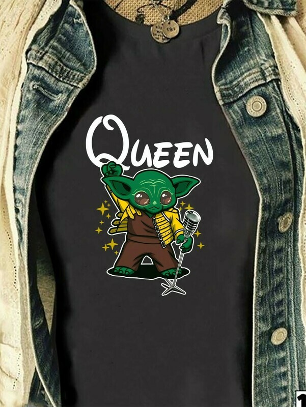 Queen Yoda Freddie Mercury Baby Yoda Is My Patronus Star Wars Parody Mandalorian Ugly Xmas Boba Fett Air Jordan parody Shirt Long Sleeve Sweatshirt Hoodie Jolly Family Gifts