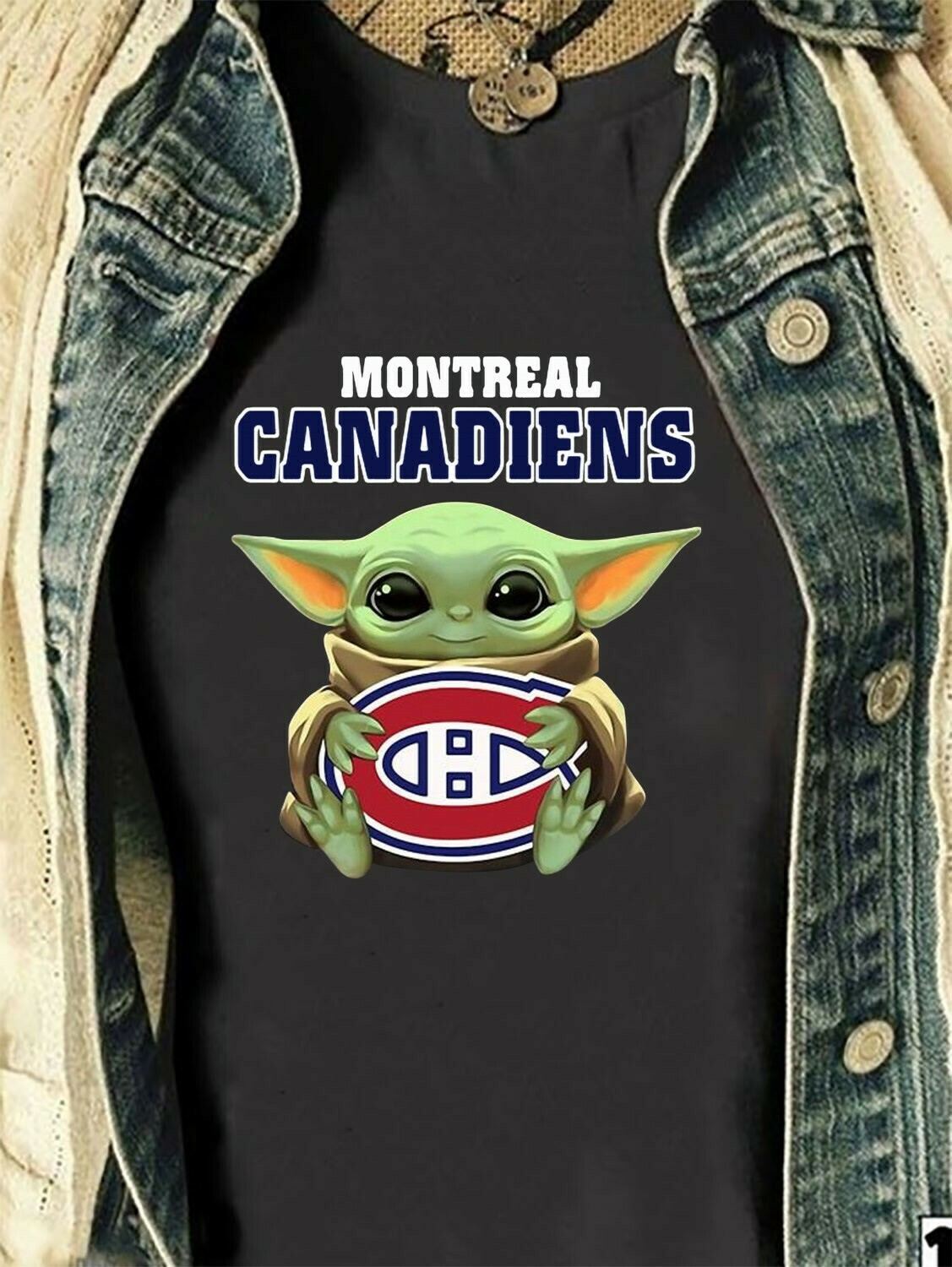 Montreal Canadiens Baby Yoda Star Wars The Mandalorian The Child First Memories Floating NHL Hockey Team Dad Mon Kid Fan Gift T-Shirt Long Sleeve Sweatshirt Hoodie Jolly Family Gifts
