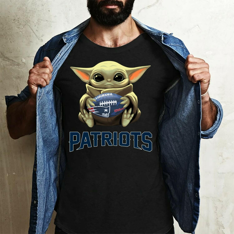 New England Patriots Baby Yoda shirt, Star Wars Unisex cotton Shirt, Baby Yoda Football team T-Shirt, T-Shirt With Sayings Long Sleeve Sweatshirt Hoodie Jolly Family Gifts