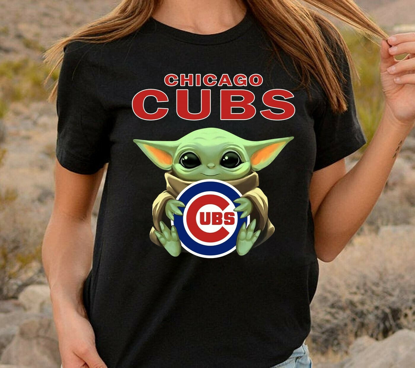 Chicago Cubs Baby Yoda Star Wars The Mandalorian The Child First Memories Floating Football Team Dad Mon Kid Fan Gift T-Shirt Long Sleeve Sweatshirt Hoodie Jolly Family Gifts
