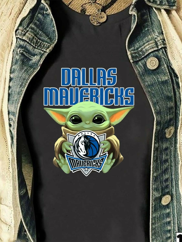 Dallas Mavericks Baby Yoda Star Wars The Mandalorian The Child First Memories Floating NBA Basketball Dad Mon Kid Fan Gift T-Shirt Long Sleeve Sweatshirt Hoodie Jolly Family Gifts