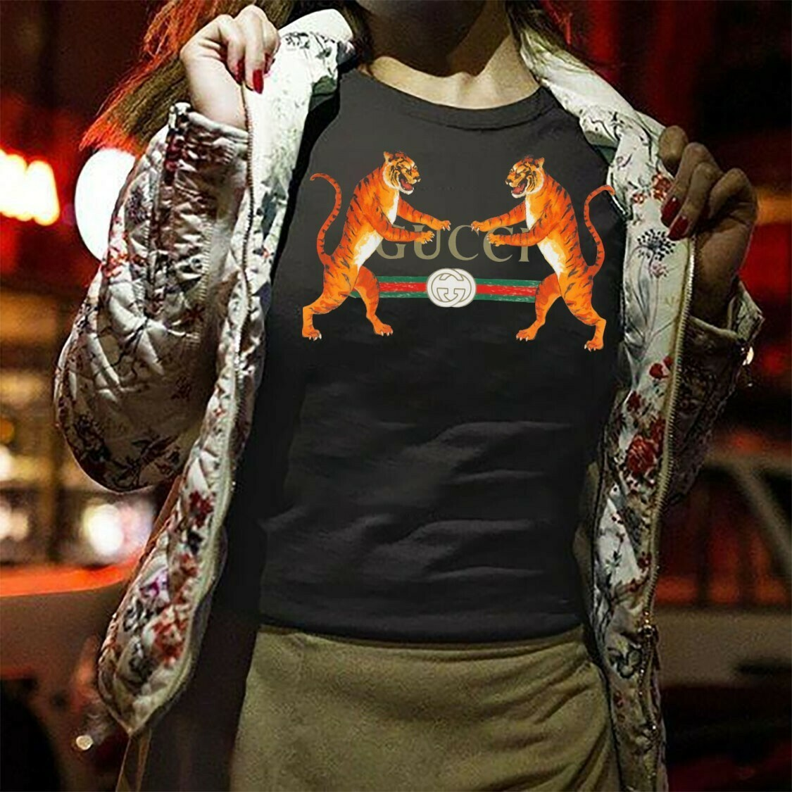 Classic Logo Tiger Gucci Chanel Shirt LV T-shirt Louis Vuitton Fashion LV Fashion for Women Men Youth Kids Vintage T Shirt Long Sleeve Sweatshirt Hoodie Jolly Family Gifts