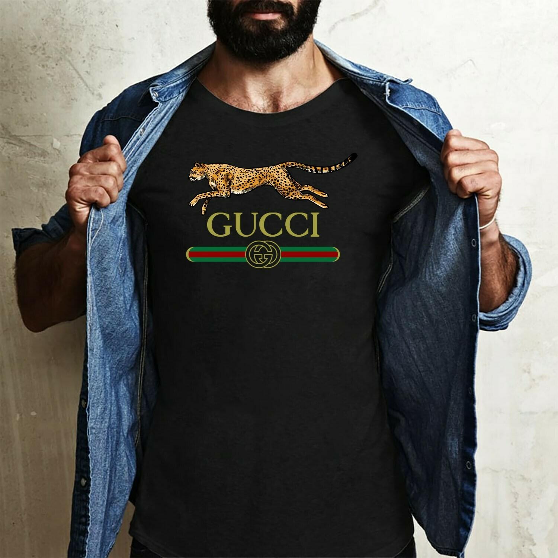 lionpard Logo Gucci, Gucci Shirt, Gucci T-shirt, Gucci Logo, Gucci Fashion shirt, Fashion shirt, Gucci Design, Snake Gucci vintage shirt Long Sleeve Sweatshirt Hoodie Jolly Family Gifts