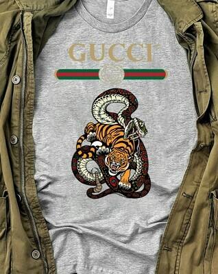 Snake Tiger Logo Gucci, Gucci Shirt, Gucci T-shirt, Gucci Logo, Gucci Fashion shirt, Fashion shirt, Gucci Design, Snake Gucci vintage shirt Long Sleeve Sweatshirt Hoodie Jolly Family Gifts
