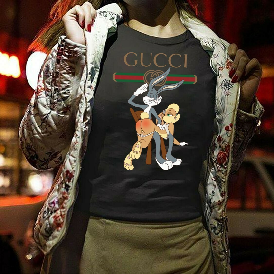 Bunny rabbit,Logo Gucci,Gucci Shirt,Gucci T-shirt,Gucci Logo,Gucci Fashion shirt,Fashion shirt,Gucci Design shirt,Snake Gucci vintage shirt Long Sleeve Sweatshirt Hoodie Jolly Family Gifts