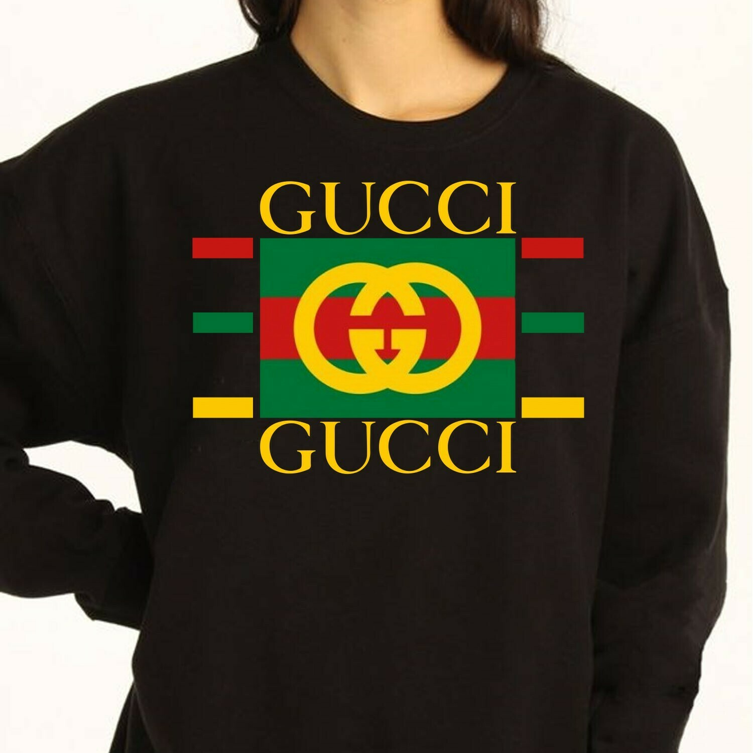 Gucci Yellow Interlocking logo printer,Coco Capitan Phrases,Vintage 90s Fruit Of The Loom Bootleg Gucci gift T-Shirt Long Sleeve Sweatshirt Hoodie Jolly Family Gifts