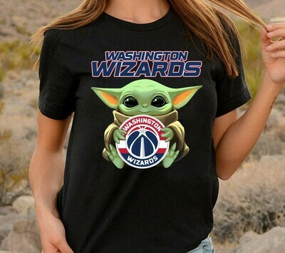 Washington Wizards Baby Yoda Star Wars The Mandalorian The Child First Memories Floating NBA Basketball Dad Mon Kid Fan Gift T-Shirt Long Sleeve Sweatshirt Hoodie Jolly Family Gifts