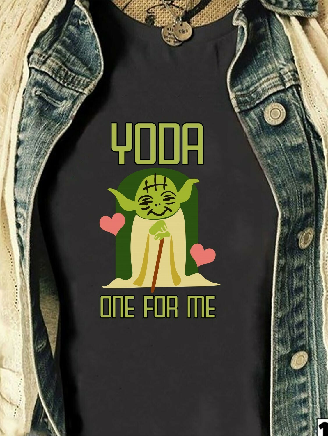 Baby Yoda One For Me Funny Valentine's day,Star Wars Mandalorian Baby Onesie,Disney World Valentine Vacation T Shirt Long Sleeve Sweatshirt Hoodie Jolly Family Gifts