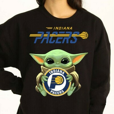 Indiana Pacers Baby Yoda Star Wars The Mandalorian The Child First Memories Floating NBA Basketball Dad Mon Kid Fan Gift T-Shirt Long Sleeve Sweatshirt Hoodie Jolly Family Gifts