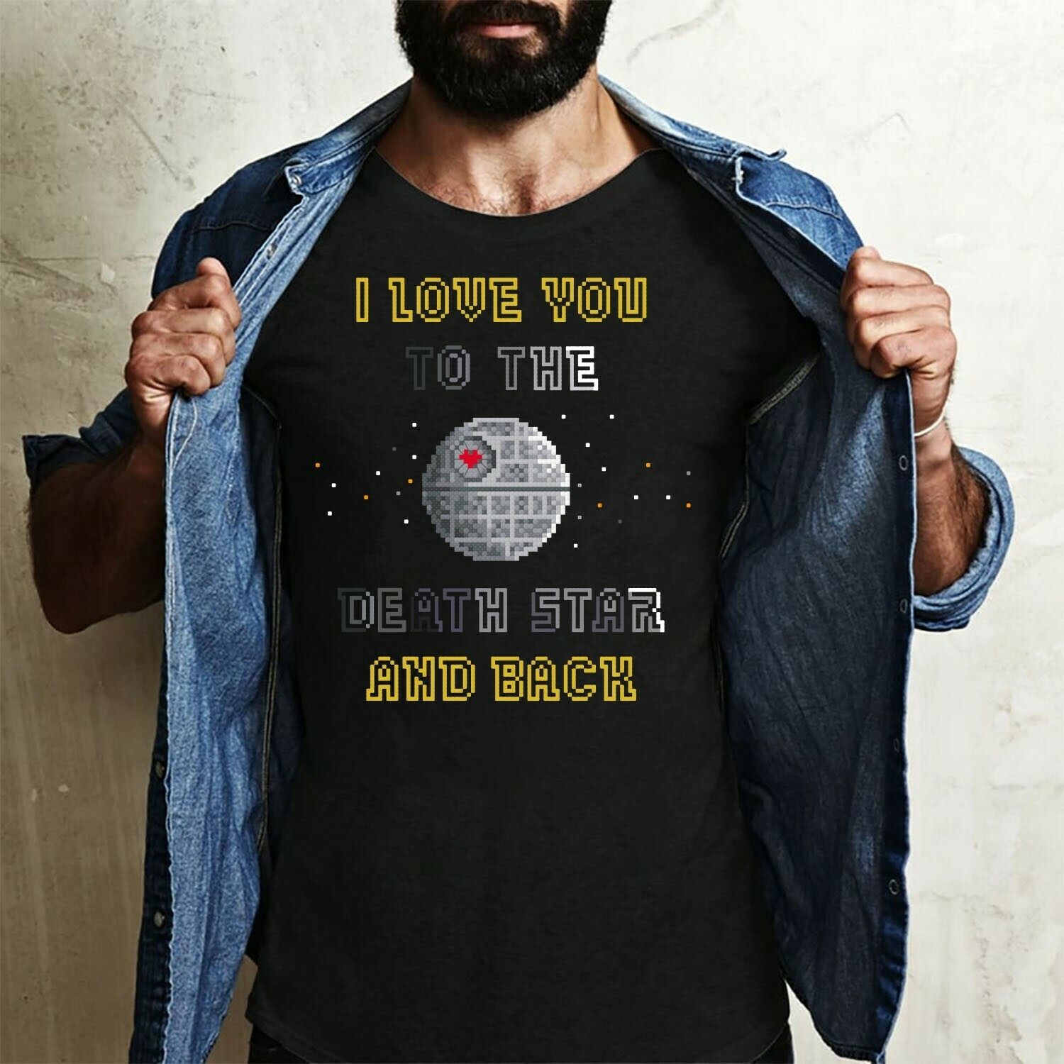 "Star Wars ""I Love You To The Death Star And Back"",Galaxy Edge Disney Star Wars,I LoveThe Death Star Comedy T-Shirt Long Sleeve Sweatshirt Hoodie Jolly Family Gifts"