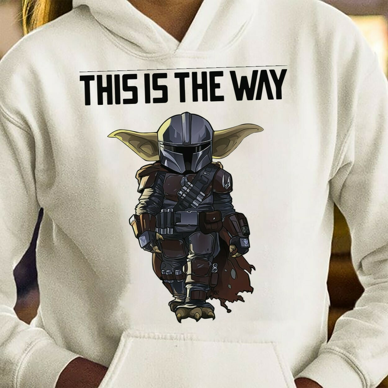 Star Wars The Mandalorian This Is The Way Spirit Portrait Helmet Sticker Bounty Hunter Galaxy Edge Boba Fett T-Shirt Long Sleeve Sweatshirt Hoodie Jolly Family Gifts