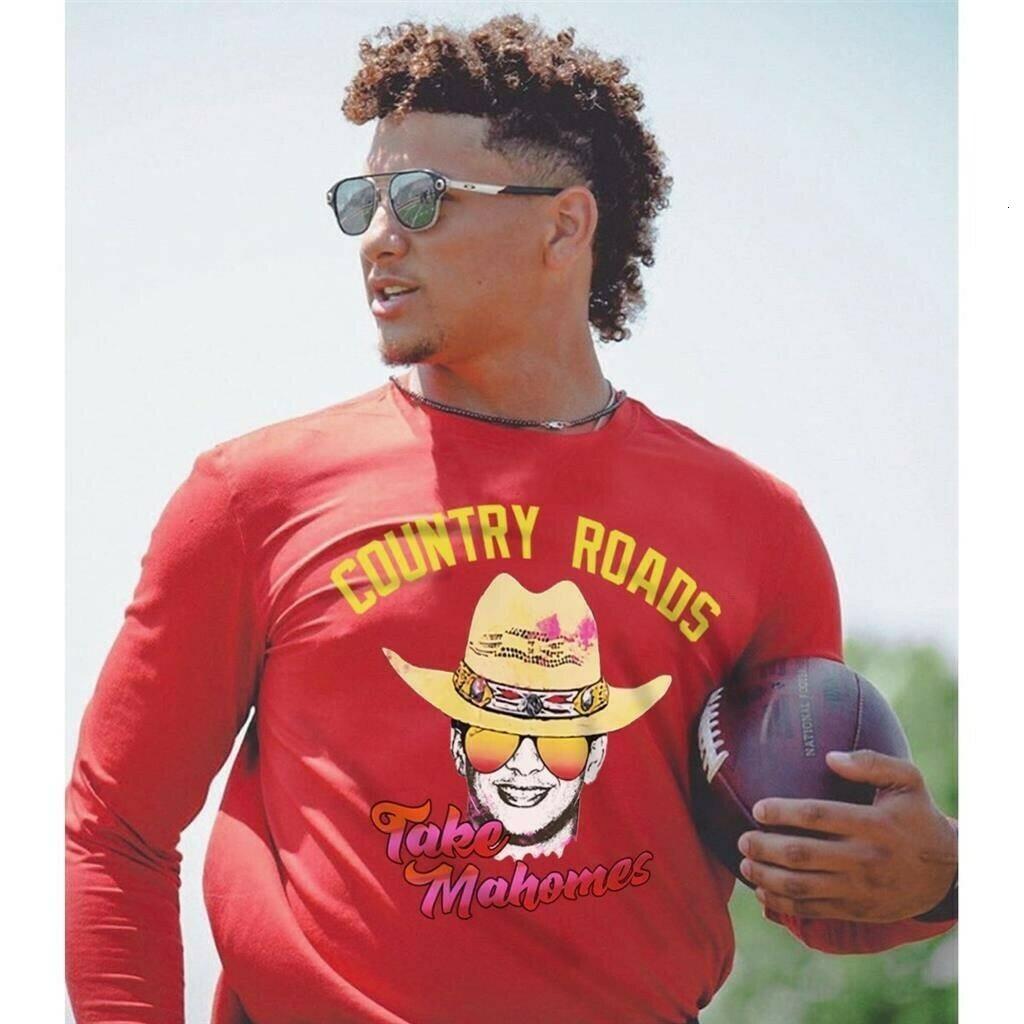 Country Roads Take Mahomes Patrick Mahomes Kansas City Chiefs Inspired Unisex T-Shirt Football shirt tshirt Long Sleeve Sweatshirt Hoodie Jolly Family Gifts