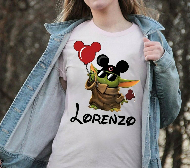 Lorenzo Vacay Mode Baby Yoda Disney The Mandalorian With Death Star Wars Movie Vacay Mode Lovely Mickey T-Shirt Long Sleeve Sweatshirt Hoodie Jolly Family Gifts