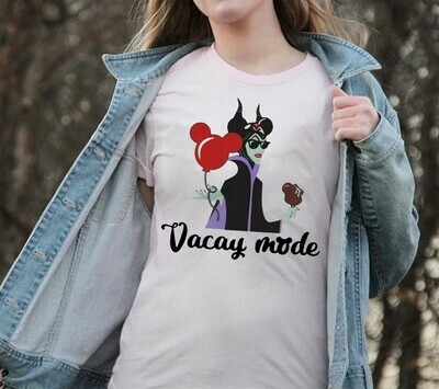 Vacay Mode Maleficent Villain Disney Villains Bad Girls Squad Have More Fun Walt Disney World Disneyland Park Family Vacation T Shirt Long Sleeve Sweatshirt Hoodie Jolly Family Gifts