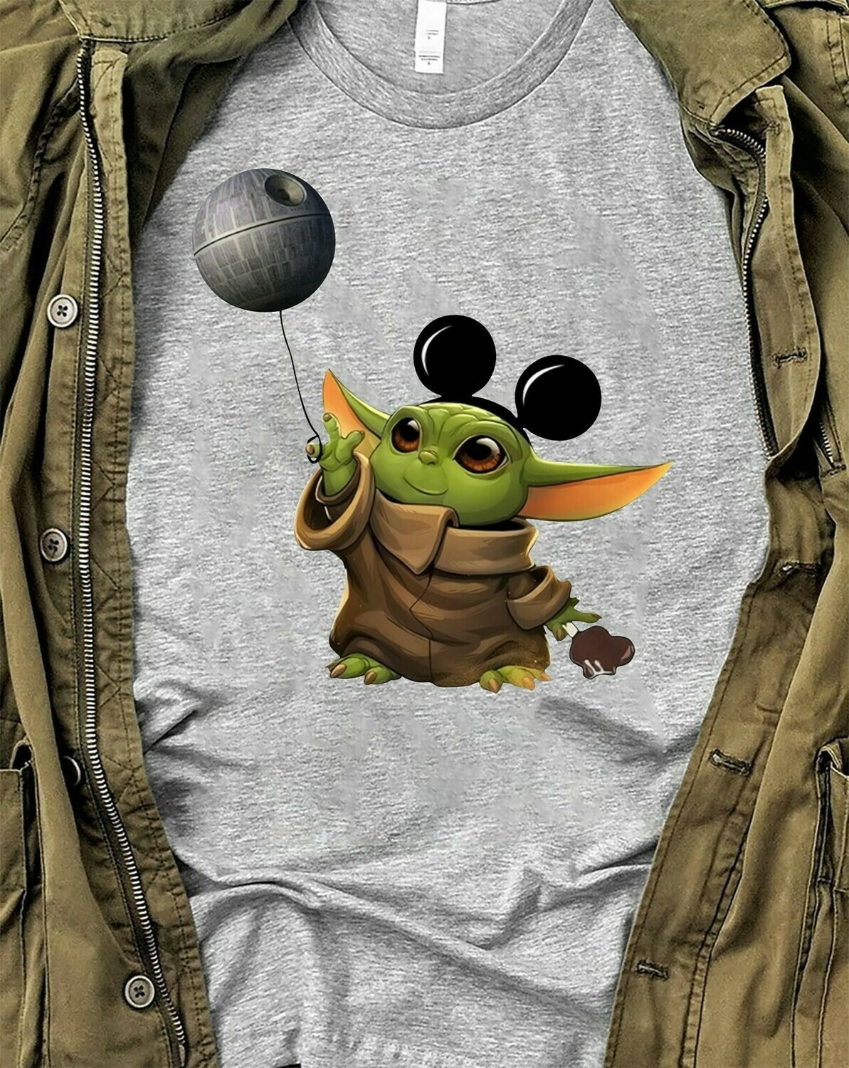 Vacay Mode Baby Yoda Disney The Mandalorian With Death Star Wars Movie Vacay Mode Lovely Mickey T-Shirt Long Sleeve Sweatshirt Hoodie Jolly Family Gifts