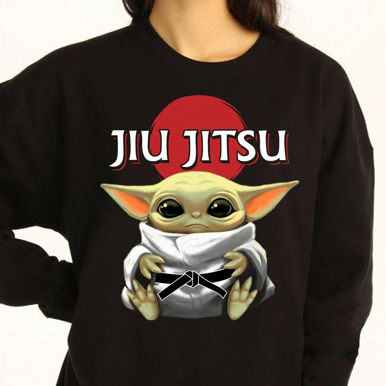 Star Wars Baby Yoda Jiu Jitsu,Funny Movie Memes Star Wars The Rise of Skywalker funny fan gift T shirt Long Sleeve Sweatshirt Hoodie Jolly Family Gifts