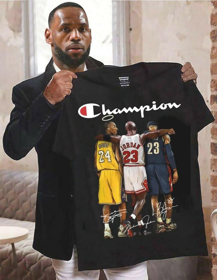 Kobe Bryant Michael Jordan Lebron James Black Mamba Los angeles Lakers LA GOAT Rip Kobe Bryant Baseketball 1978 - 2020 NBA Fan Gift T-Shirt Long Sleeve Sweatshirt Hoodie Jolly Family Gifts