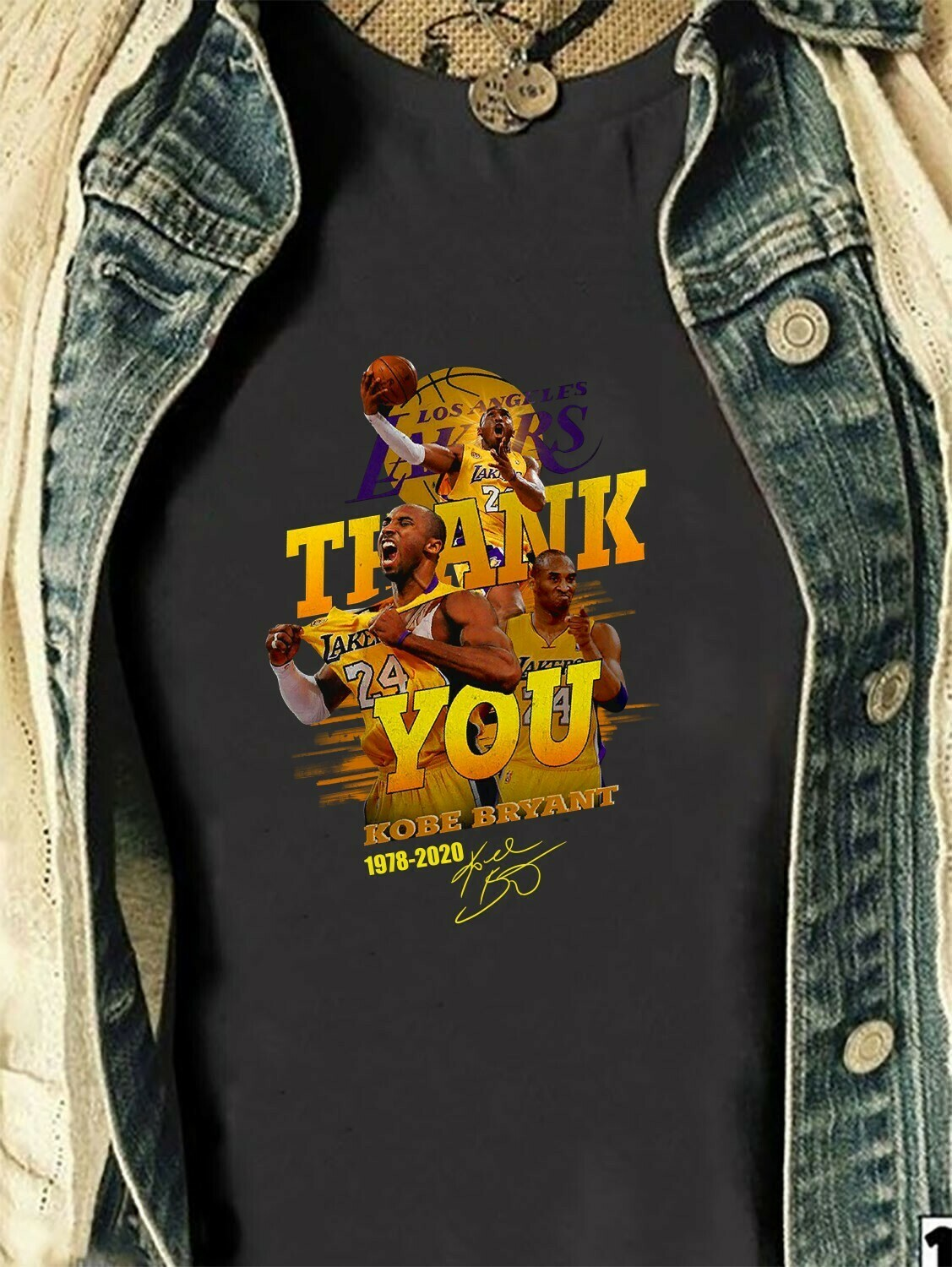 Los Angeles Lakers thank you Kobe Bryant 1978 2020 legends never die signature,24 Kobe Bryant Lakers thank you for the NBA memories T-Shirt Long Sleeve Sweatshirt Hoodie Jolly Family Gifts
