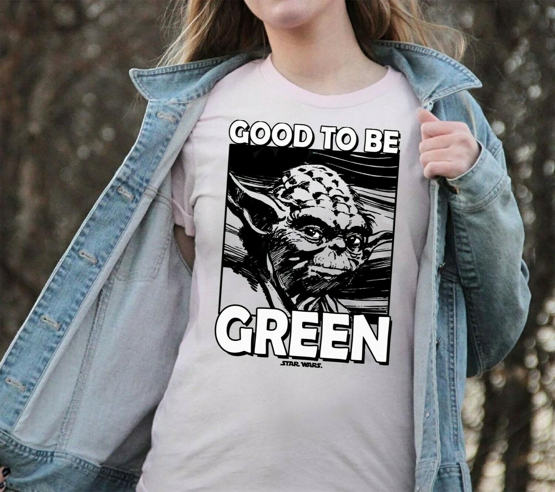 Star Wars Juniors' St. Patrick's Day Yoda Good to Be Green,The Rise of Skywalker Movie Memes Fan T-Shirt Unisex T-Shirt Sweatshirt Hoodie Long Sleeve Kids Tee Jolly Family Gifts