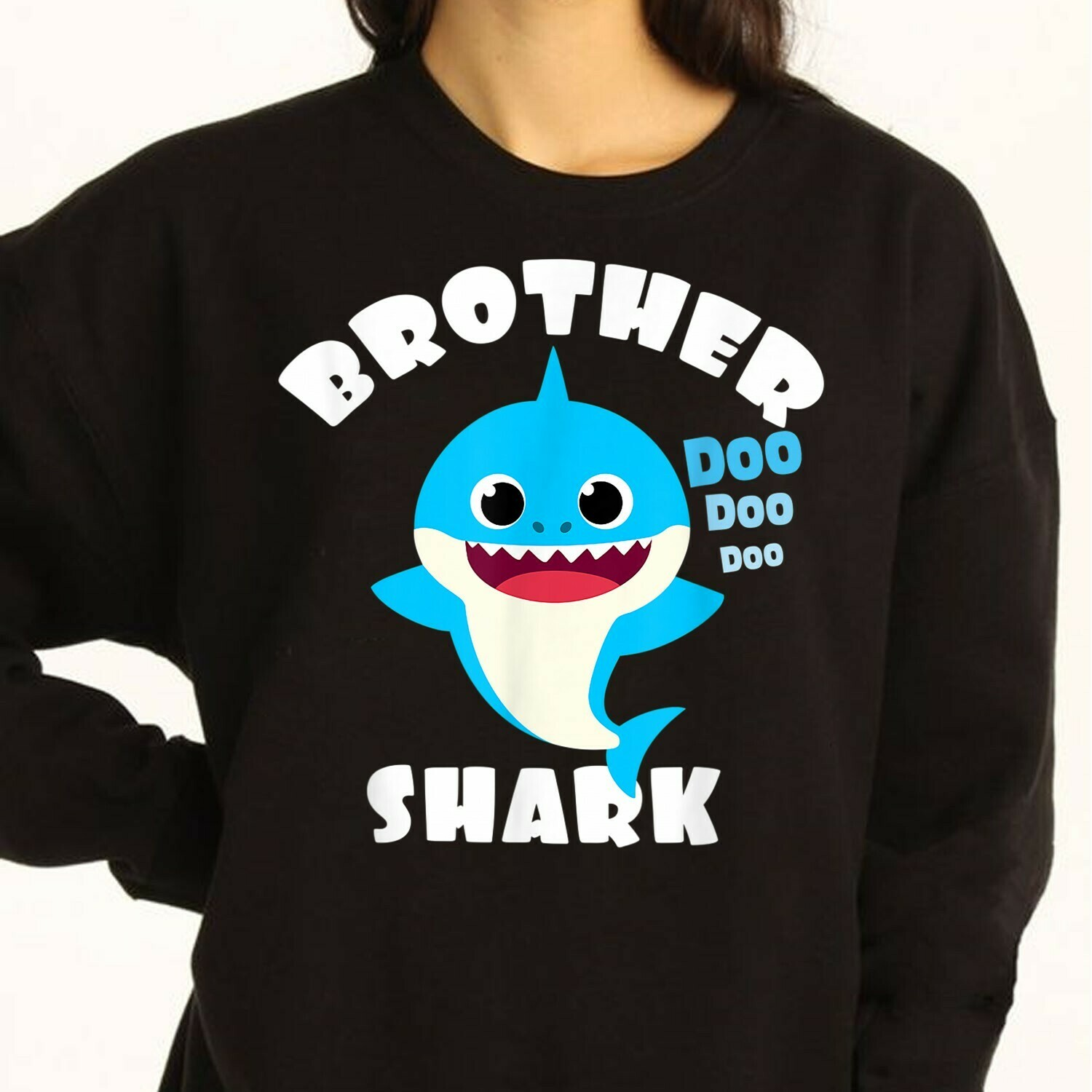 Brother Shark Pinkfong Custom Toddler Baby Shark Doo Doo Doo Family Vacation Shirts Birthday Shark Mommy Daddy Grandma Sister s T-Shirt Sweatshirt Hoodie Long Sleeve Tee Kids Youth Gifts Jolly Family