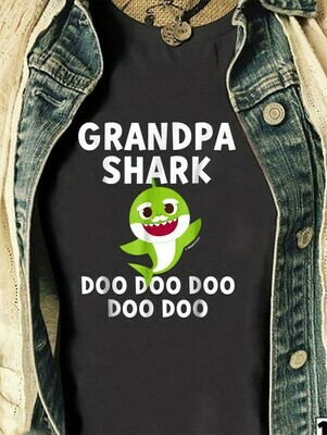 Grandpa Shark Pinkfong Toddler Baby Shark Doo Doo Doo Family Vacation Birthday Shark Mommy Daddy Grandma Sister Brother Shark s T-Shirt Sweatshirt Hoodie Long Sleeve Tee Kids Youth Gifts Jolly Family
