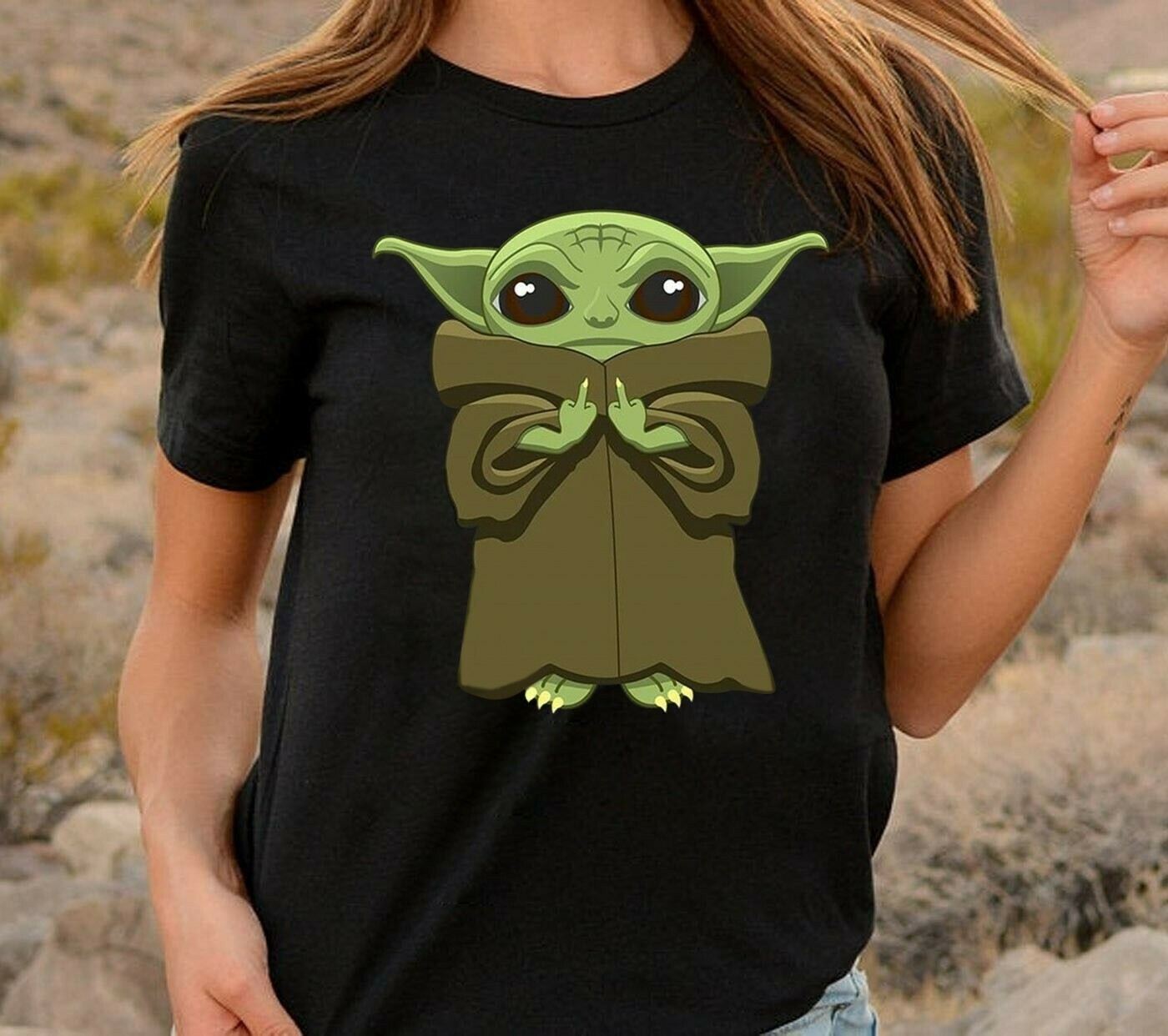 Star Wars baby Yoda give a fuck pocket,Baby Yoda Middle Finger Yourself Go Fuck,Funny The Rise of Skywalker Movie Memes Fan  T-Shirt Sweatshirt Hoodie Long Sleeve Tee Kids Youth Gifts Jolly Family