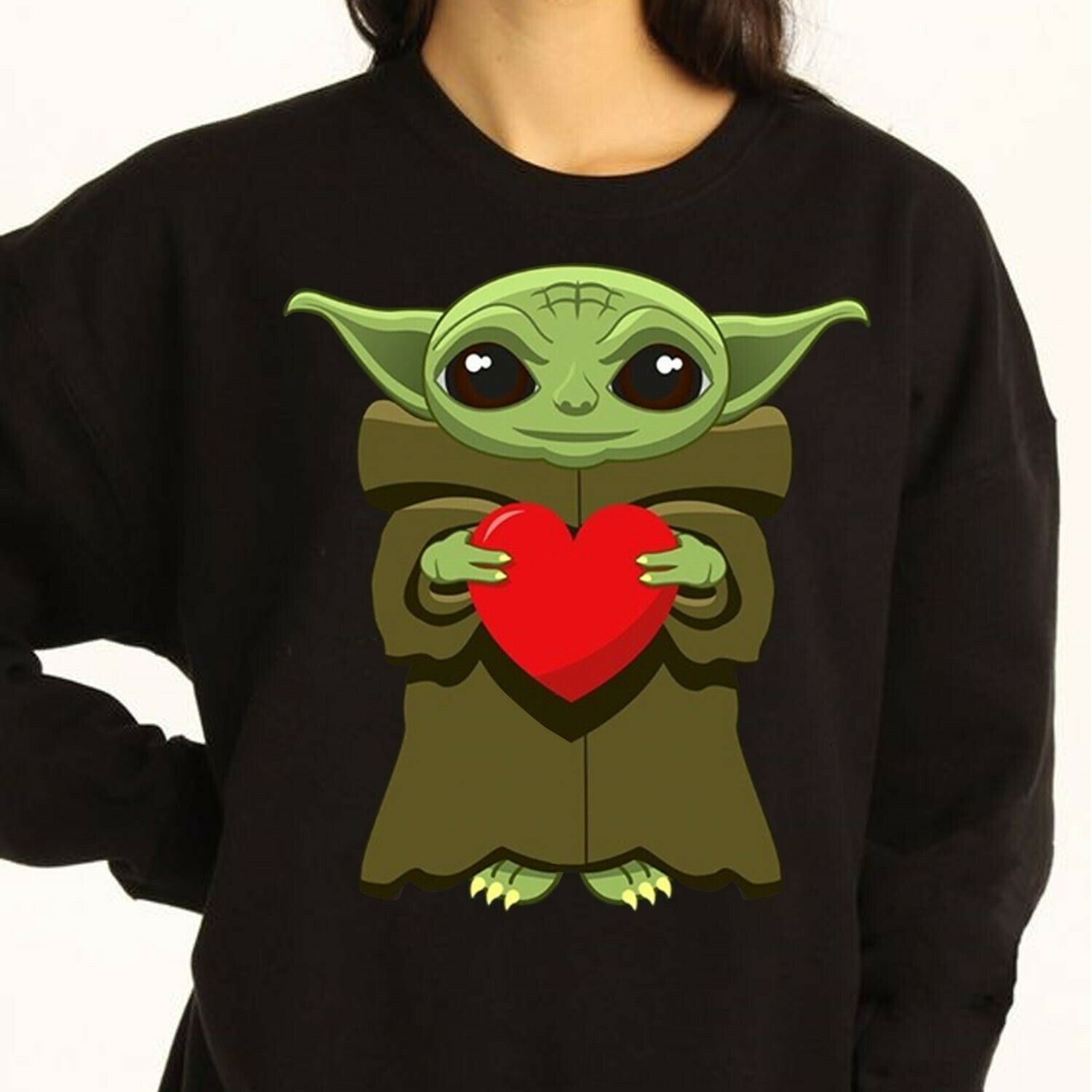 Star Wars baby Yoda give a fuck pocket,Baby Yoda hug red Heart,Funny The Rise of Skywalker Movie Memes Fan  T-Shirt Sweatshirt Hoodie Long Sleeve Tee Kids Youth Gifts Jolly Family Gifts