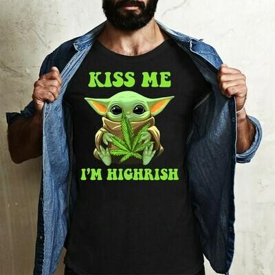 Kiss me I'm Highrish Baby Yoda St. Patrick's Day,Star Wars The Rise of Skywalker Irish Ireland shamrock s T-Shirt Sweatshirt Hoodie Long Sleeve Tee Kids Youth Gifts Jolly Family Gifts