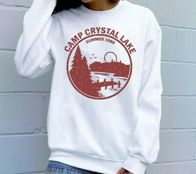 1980 Camp Crystal Lake Counselor,Funny 80s Horror Movie Fan Humor Joke  T-Shirt Sweatshirt Hoodie Long Sleeve Tee Kids Youth Gifts Jolly Family Gifts