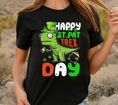 Happy St. Pat T-rex Day Cute St. Patrick's Pun,Irish Dinosaur Luckysaurus Shamrock  T-Shirt Sweatshirt Hoodie Long Sleeve Tee Kids Youth Gifts Jolly Family Gifts