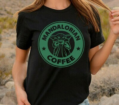Mandalorian Baby Yoda Coffee,No Coffee No Forcee Star Wars Kawaii King Boba Fett King Pride Rock Funy  T-Shirt Sweatshirt Hoodie Long Sleeve Tee Kids Youth Gifts Jolly Family Gifts