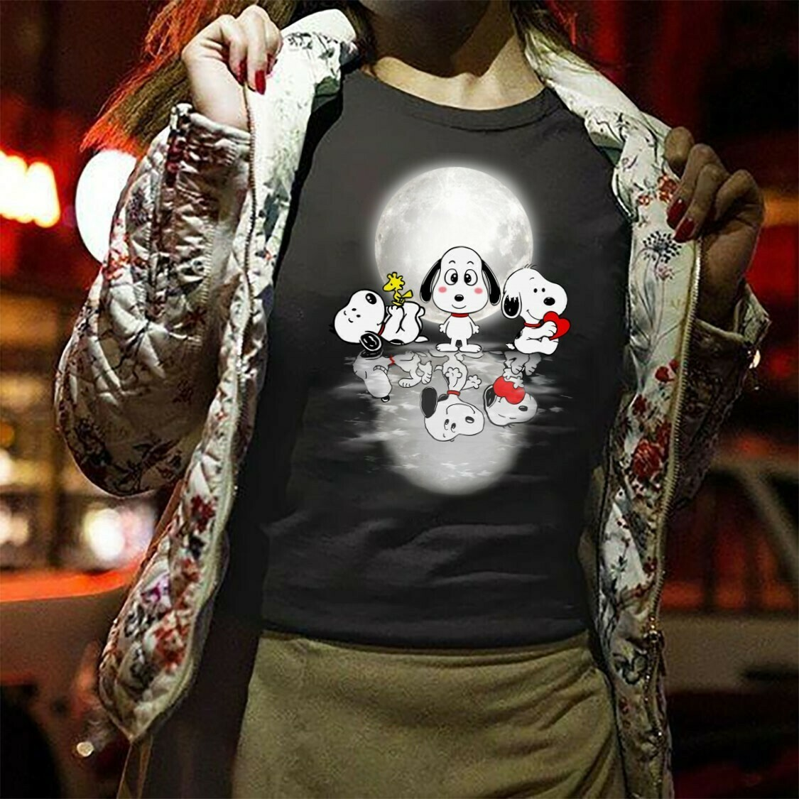 Snoopy And Woodstock a best friend Water Reflection Mirror,It's the Great Pumpkin Charlie Brown Fan,Shamrock St. Patrick's Day  T-Shirt Hoodie Sweatshirt Sweater Tee Kids Youth Gifts Jolly Family