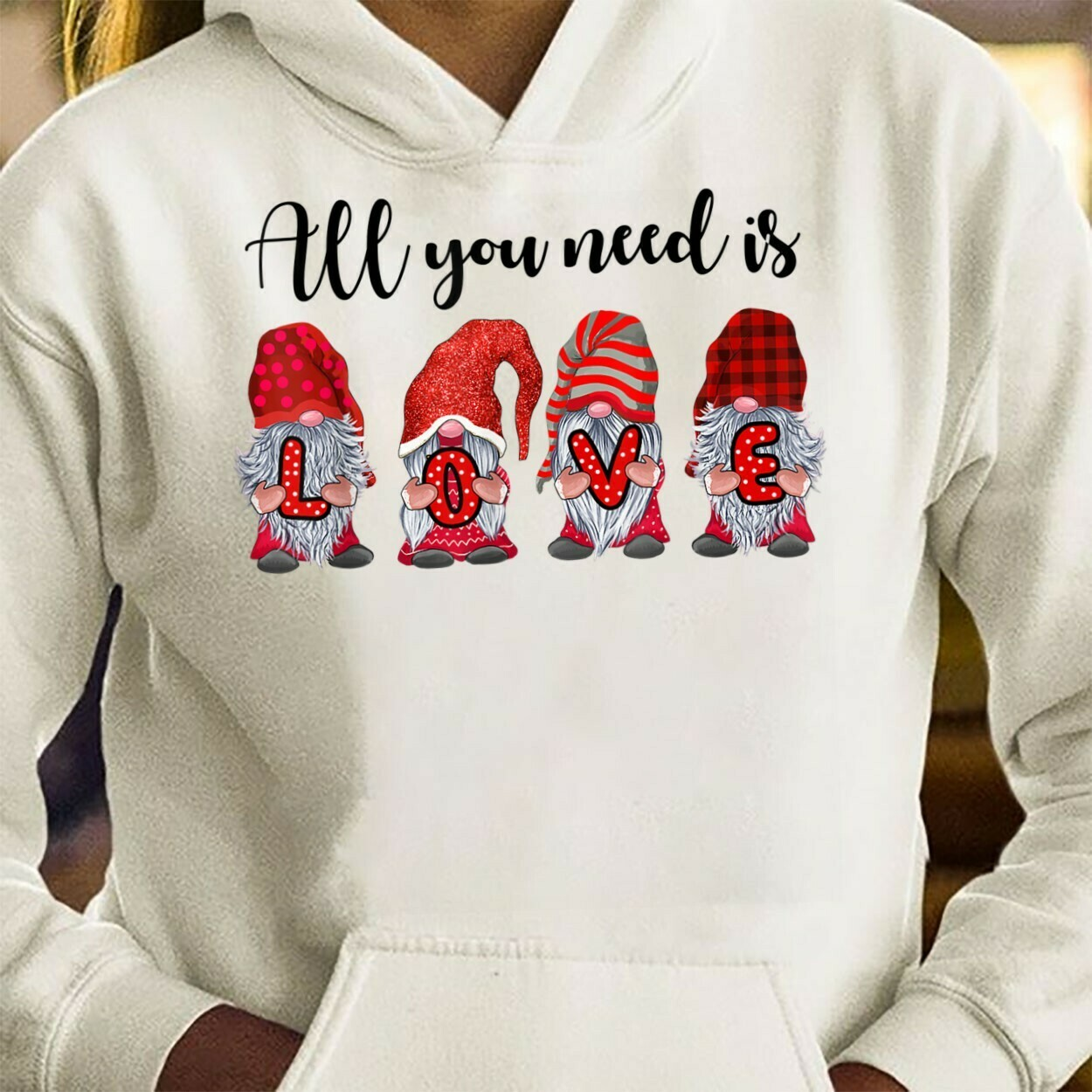 All You Need Is Love Valentine's Day Heart Gnome,Couple Mr and Mrs Gnome Love Valentine,Lovin' All My Gnomies Heart  T-Shirt Hoodie Sweatshirt Sweater Tee Kids Youth Gifts Jolly Family Gifts
