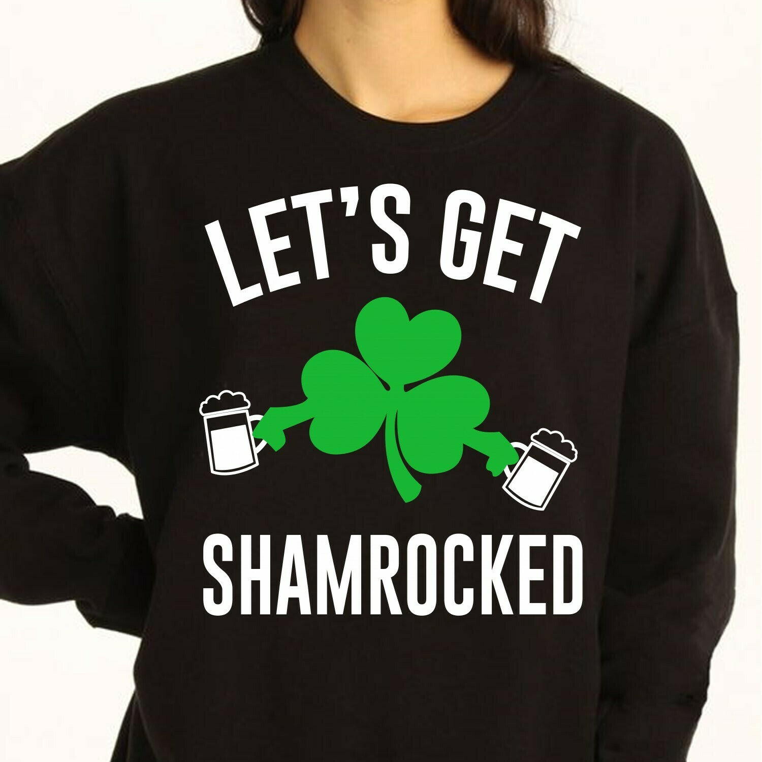 Irish Let's Get Shamrocked St Patricks Day Drinking,Lucky charm four Leaf clover Beer  T-Shirt Hoodie Sweatshirt Sweater Tee Kids Youth Gifts Jolly Family Gifts