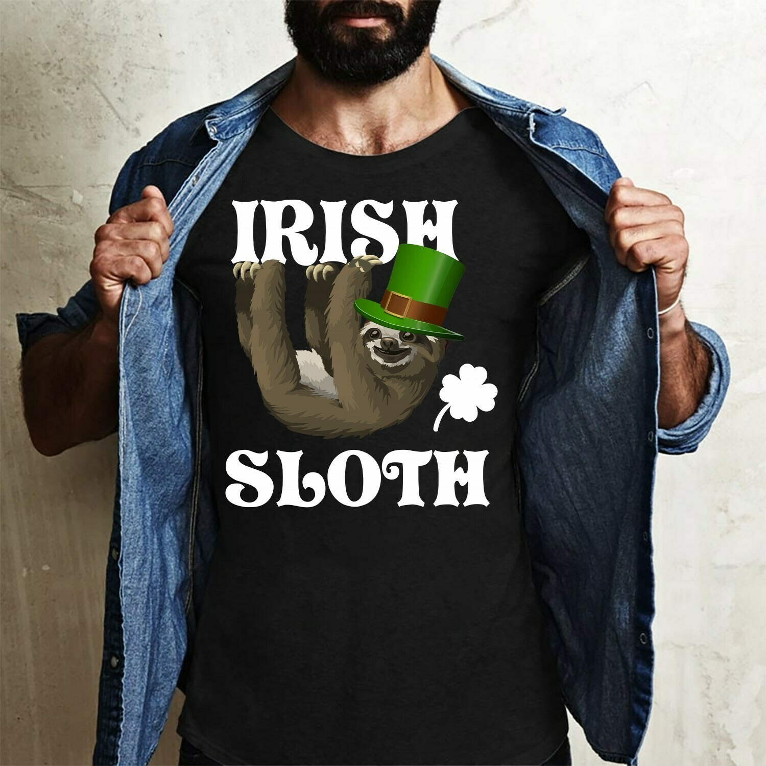Irish Sloth Funny St Patrick's Day,Napping Lazy Cute Sloth Funny Leprechaun Shamrock Green Clover  T-Shirt Hoodie Sweatshirt Sweater Tee Kids Youth Gifts Jolly Family Gifts