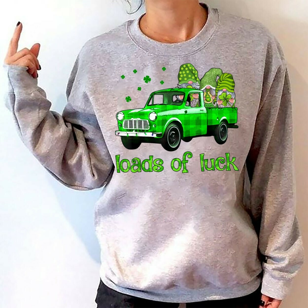 Irish Gnomes Happy st patrick's day,Three Gnomes Holding Clover Shamrocks,Green Leprechan gnome  T-Shirt Hoodie Sweatshirt Sweater Tee Kids Youth Gifts Jolly Family Gifts