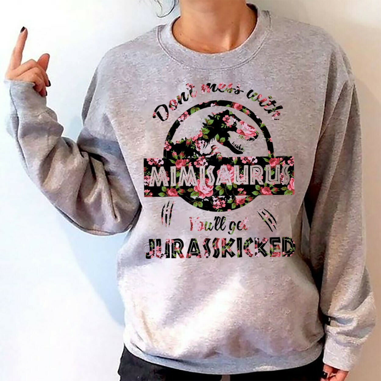 Don't mess with mimisaurus you'll get jurasskicked mother's day shirt T-Shirt Hoodie Sweatshirt Sweater Tee Kids Youth Gifts Jolly Family Gifts
