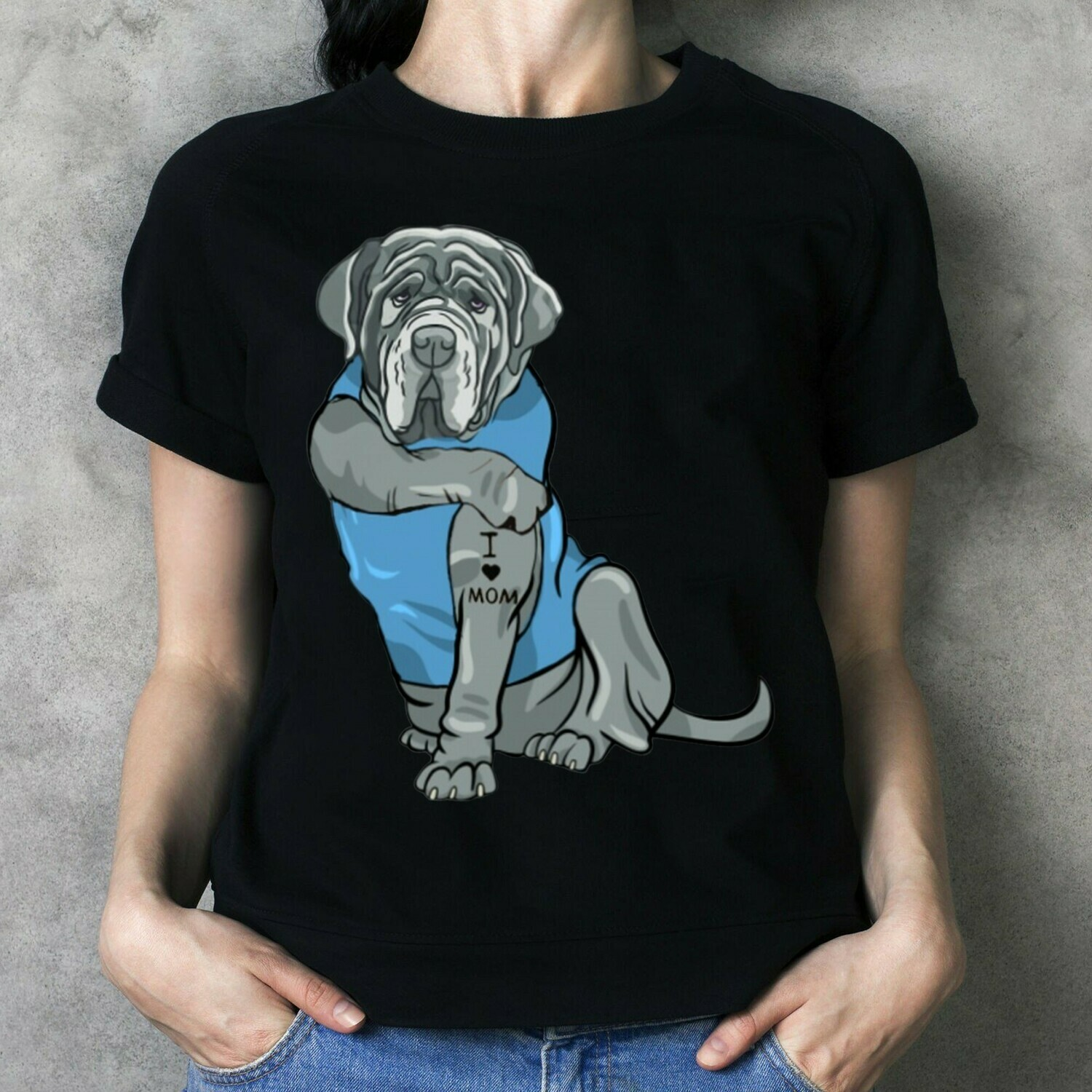 The Biggest Dogs Breed Black Tattoos I Love Mom sitting Thick Thighs  T-Shirt Hoodie Sweatshirt Sweater Tee Kids Youth Gifts Jolly Family Gifts