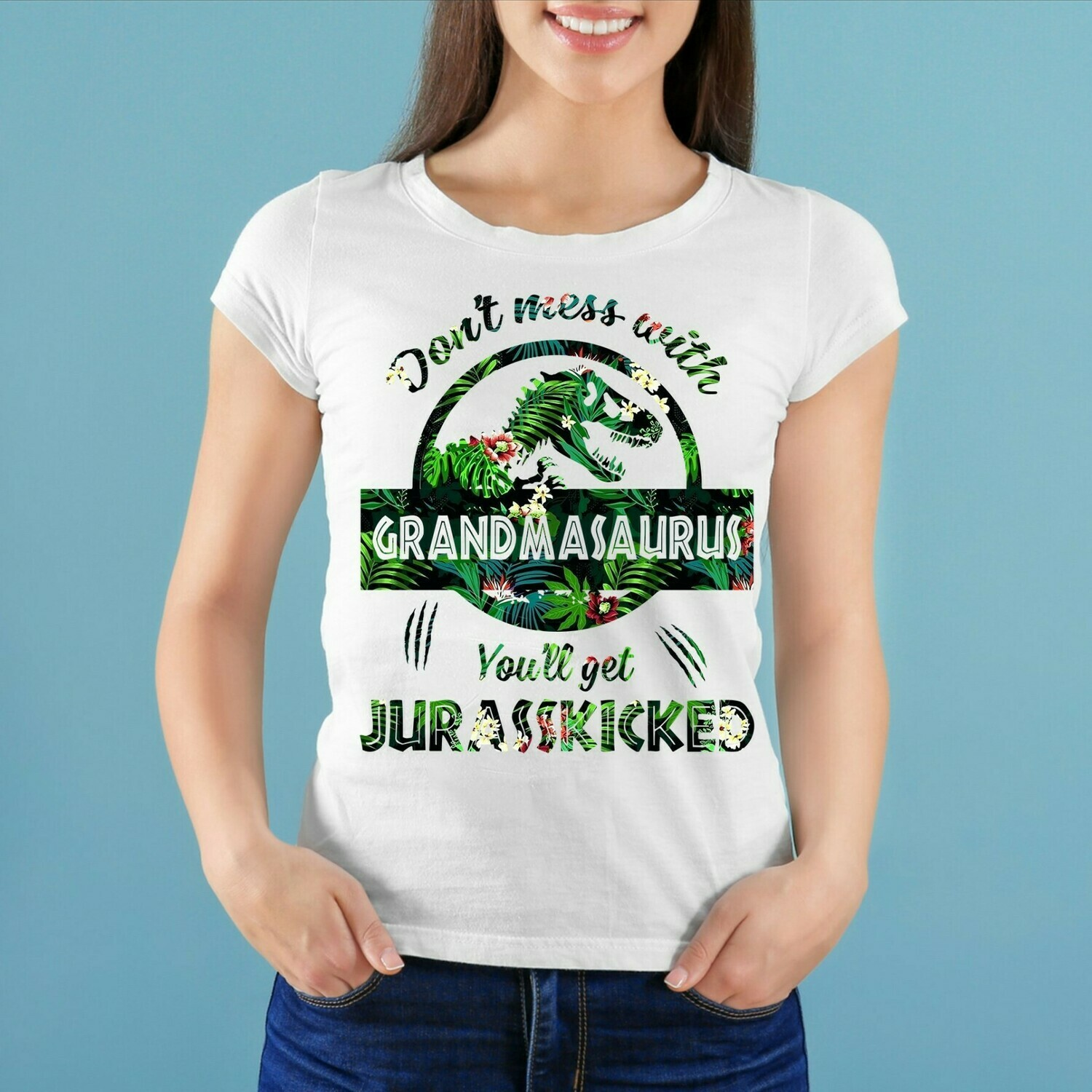 Don't mess with grandmasaurus you'll get jurasskicked mother's day shirt T-Shirt Hoodie Sweatshirt Sweater Tee Kids Youth Gifts Jolly Family Gifts