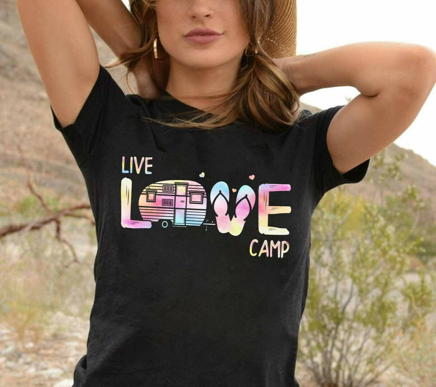 Live love camp Happy camper glamping summer camp travel nature outdoor adventure youth road trip gift for teen Family T-Shirt Hoodie Sweatshirt Sweater Tee Kids Youth Gifts Jolly Family Gifts
