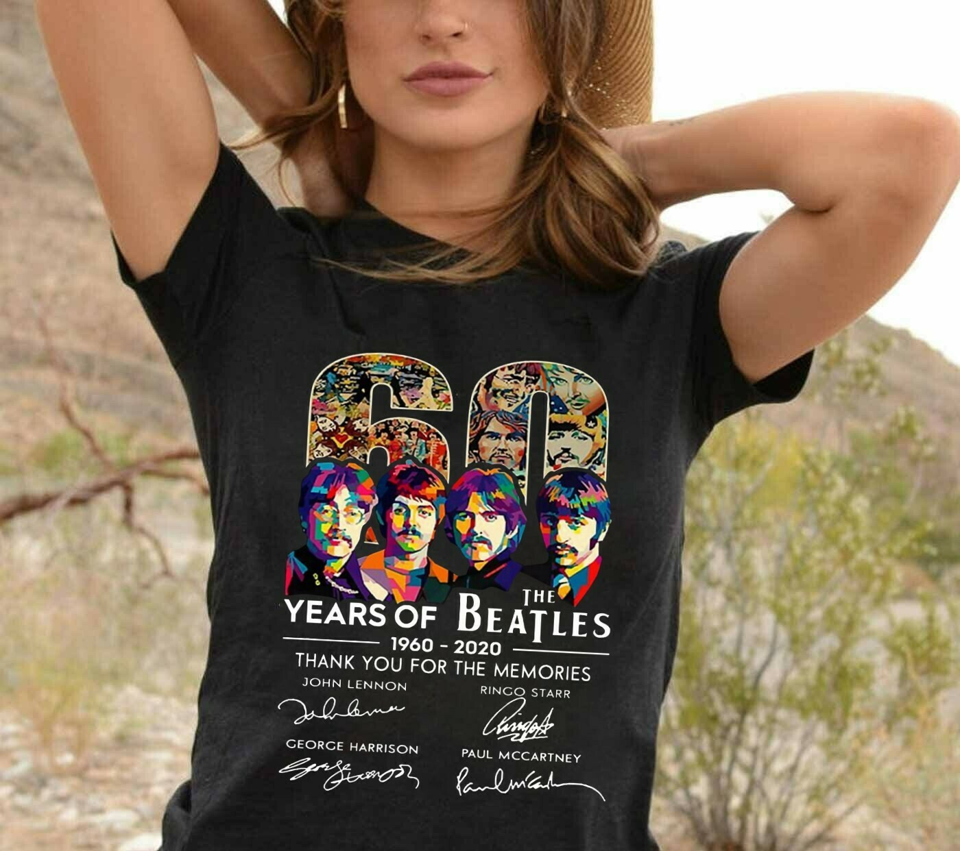 The beatles 60th anniversary 1960 - 2020 thank you for the memories signal,Classic Rock Band Legend Fan  T-Shirt Hoodie Sweatshirt Sweater Tee Kids Youth Gifts Jolly Family Gifts